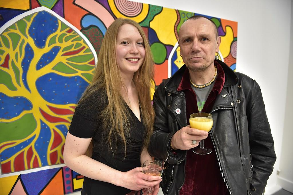 Gemma and Paul at the Private View of the Insight exhibition in March 2015. Image courtesy of Andy Hood